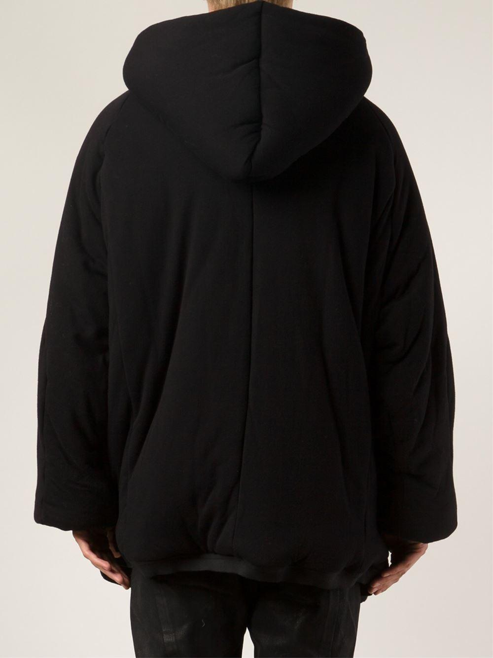 Julius oversized hooded coat - Black