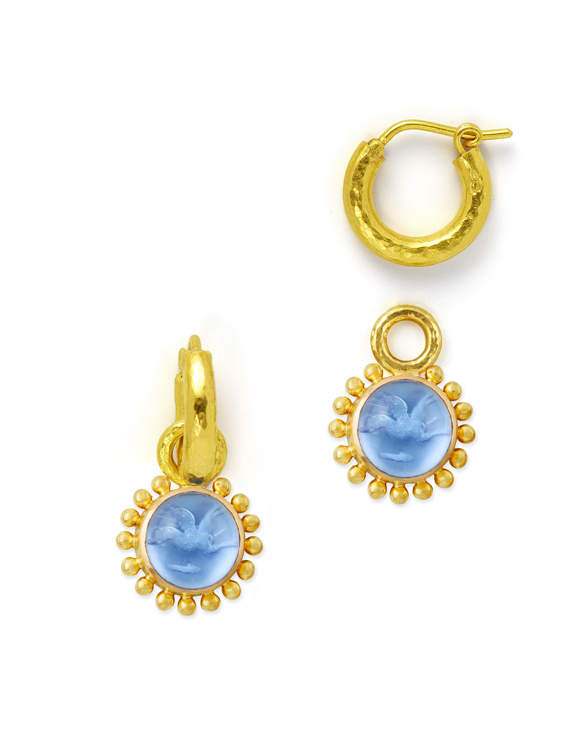 locke earrings elizabeth locke cerulean 19k yellow gold earrings in blue 6415