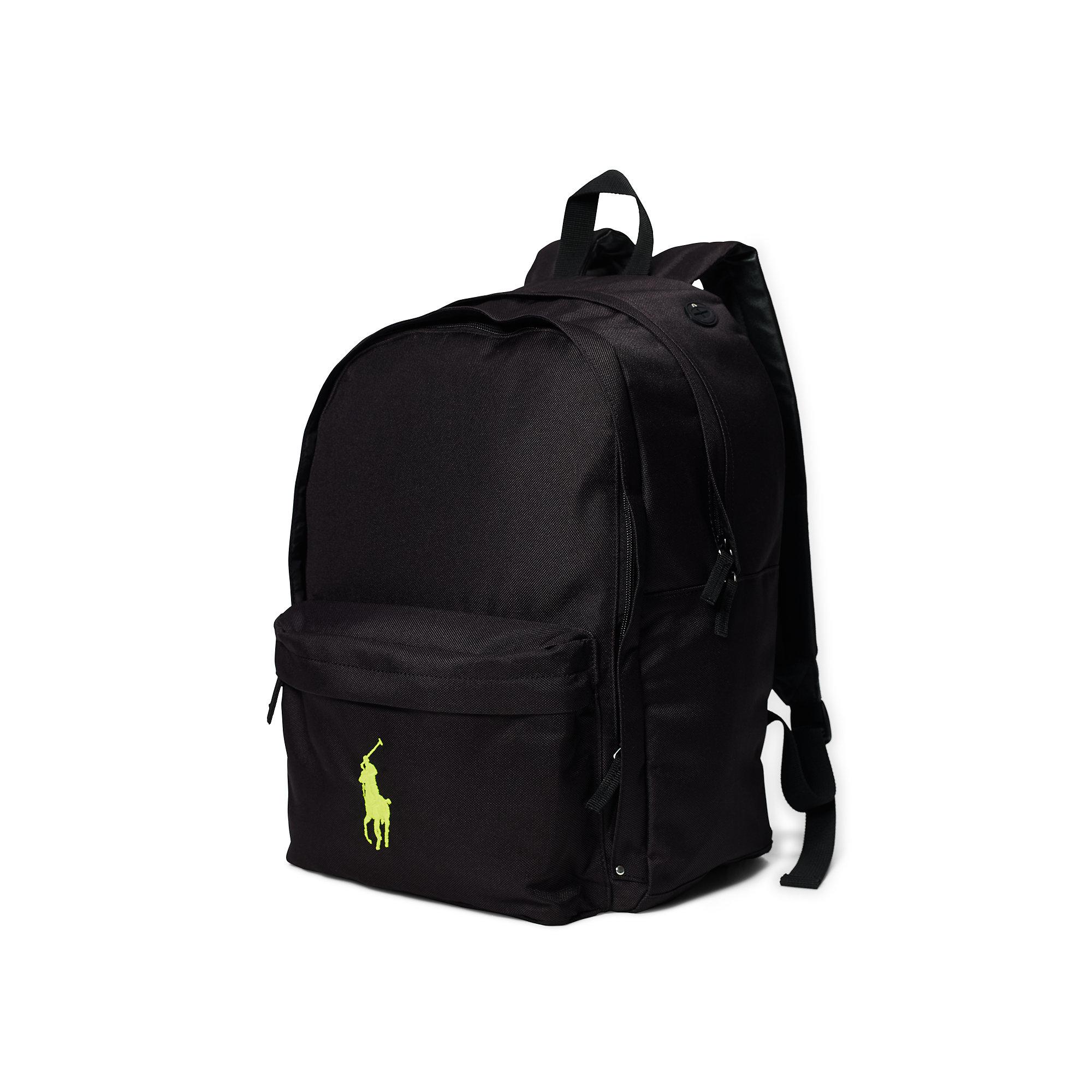 f1282d98cb Lyst - Ralph Lauren Large Big Pony Backpack in Black