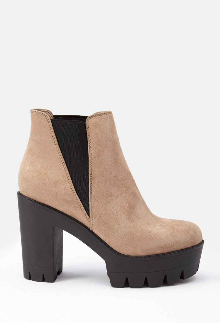 Lyst - Forever 21 Faux Suede Chelsea Booties In Brown