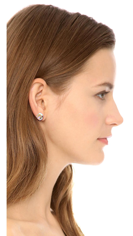 0f24edb0de6c Kate Spade Small Square Stud Earrings Ab in Metallic - Lyst