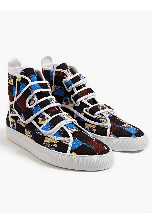 raf simons checkboard sneakers in multicolor for men lyst. Black Bedroom Furniture Sets. Home Design Ideas
