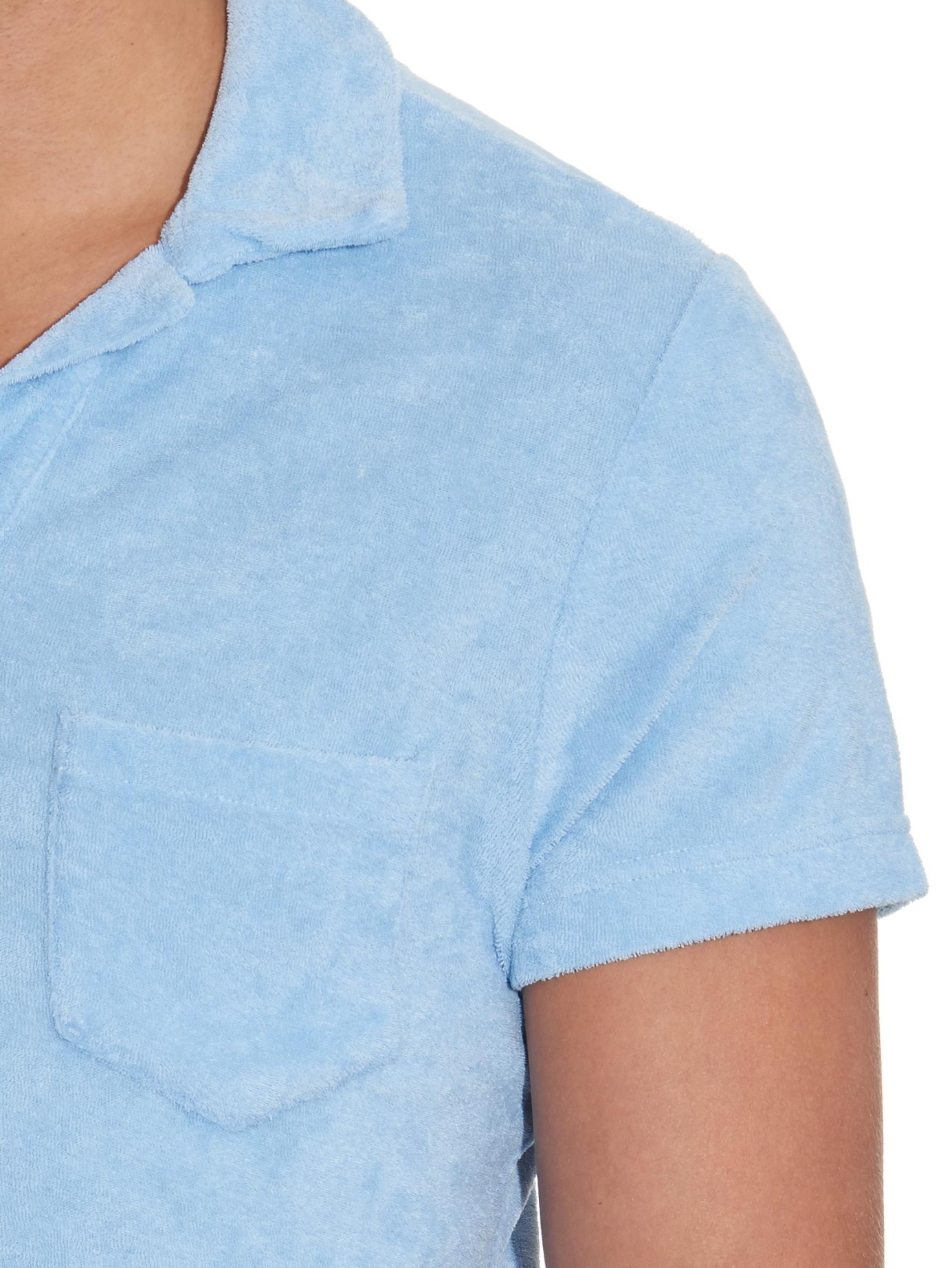 Lyst orlebar brown terry cotton polo shirt in blue for men for Terry cloth polo shirt
