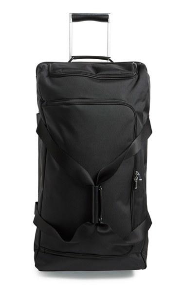 porsche design 39 roadster 3 0 39 wheeled duffel bag in black. Black Bedroom Furniture Sets. Home Design Ideas