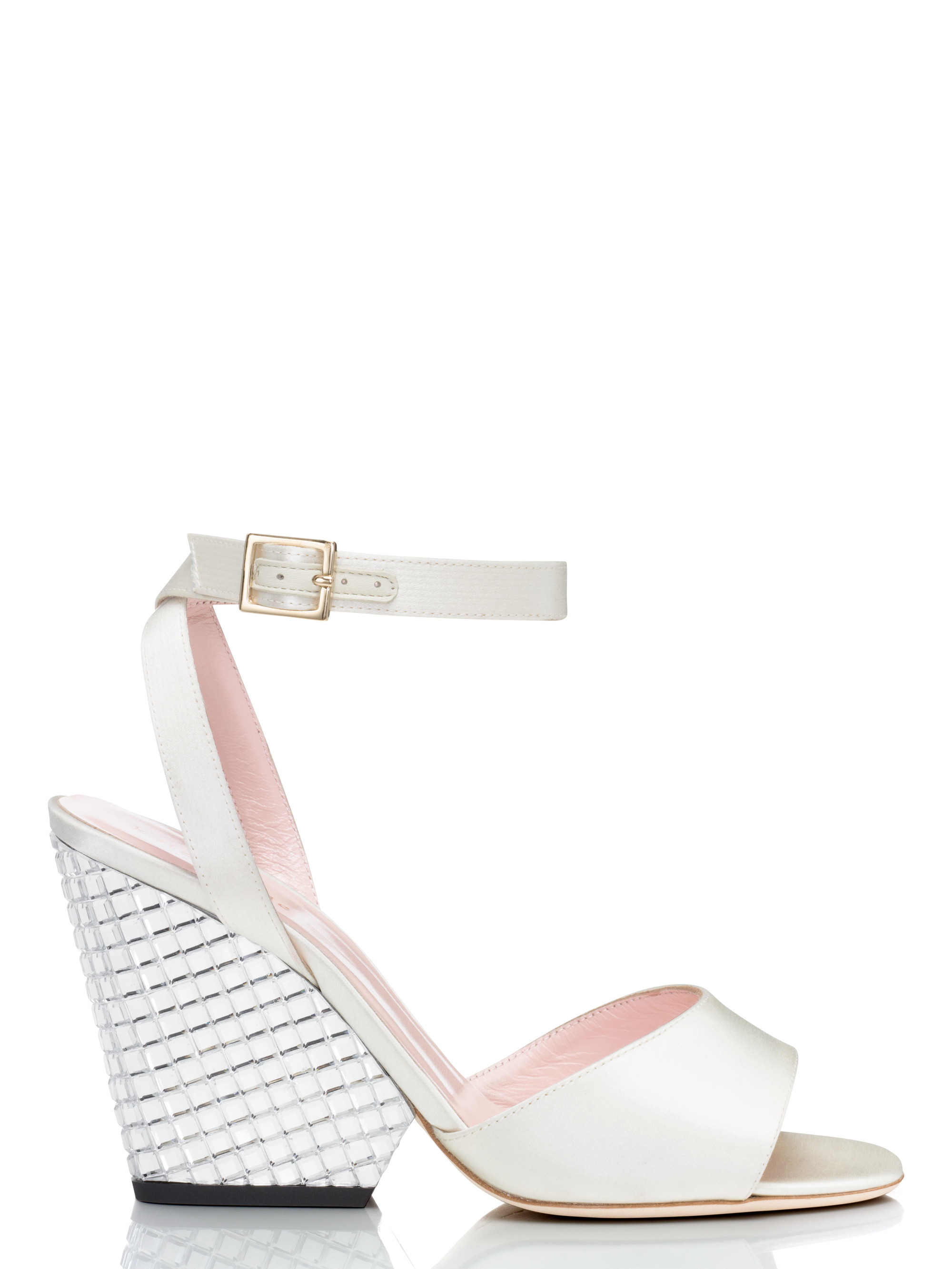 19880b9b6e00 Lyst - Kate Spade Isadora Heels in White