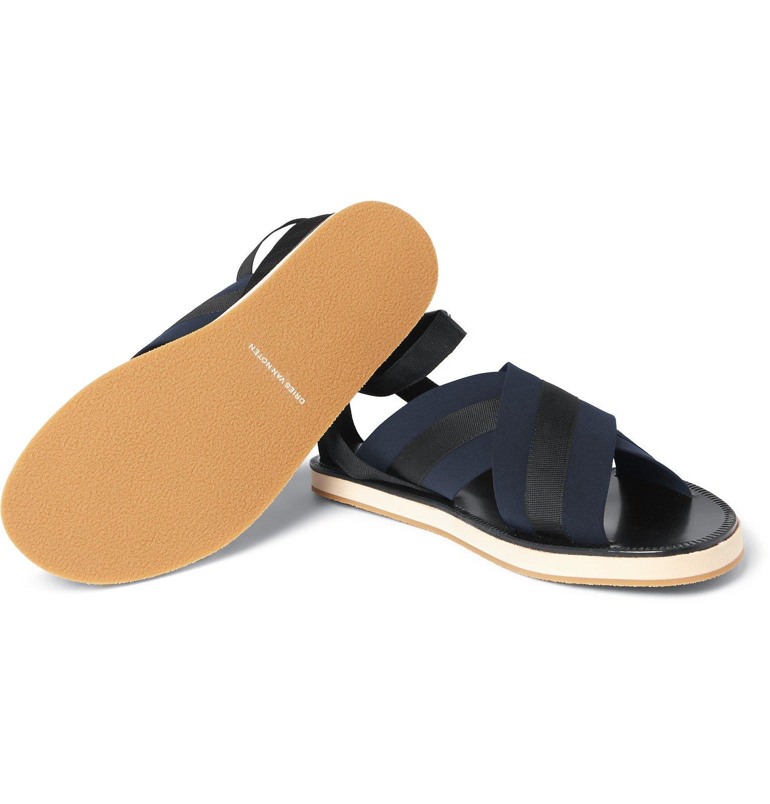 clearance sneakernews eastbay cheap online Dries Van Noten Leather Slide Sandals MrZFh