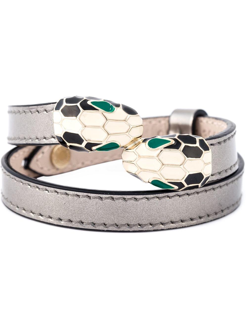 Lyst Bvlgari Serpenti Forever Bracelet In Metallic