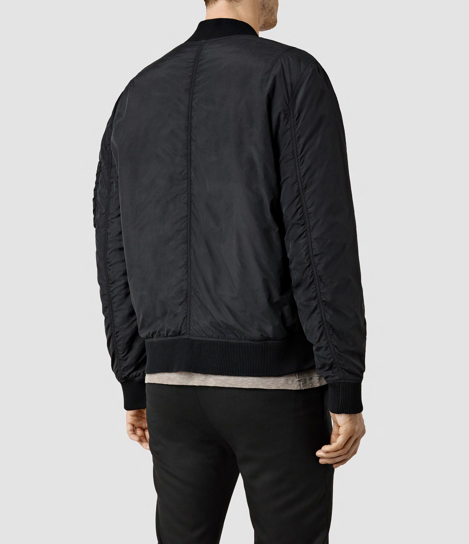 Allsaints Tolbert Bomber Jacket in Black for Men | Lyst