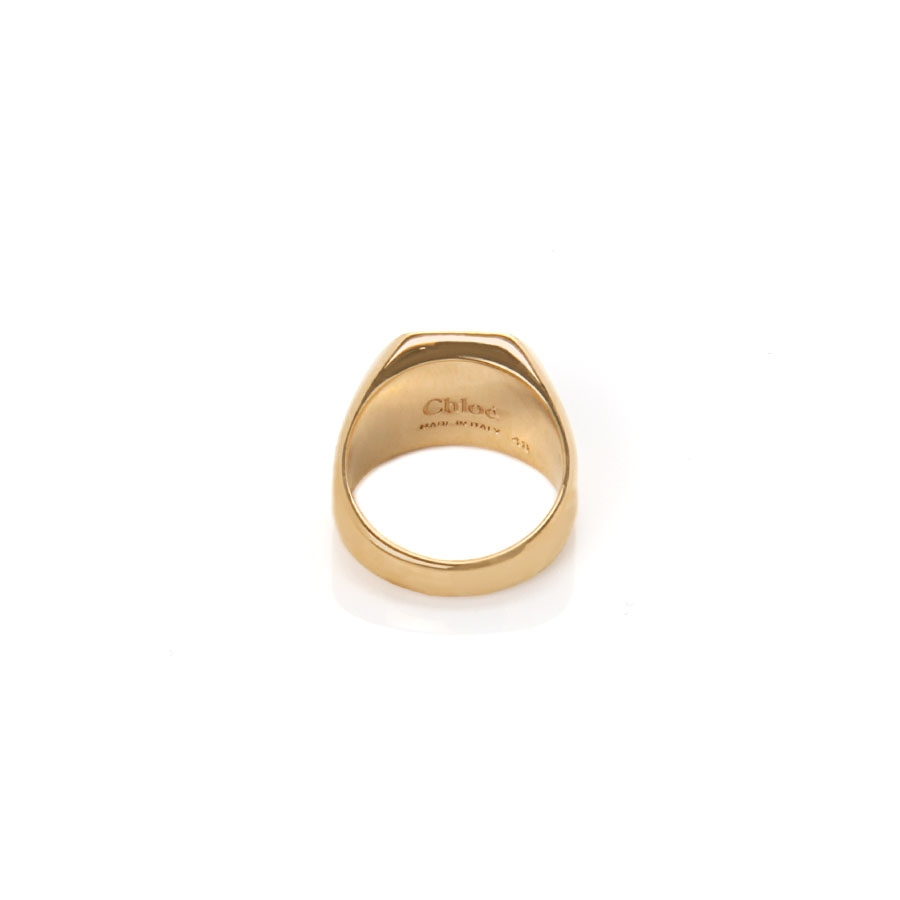 Chloé Gold Signet Pinky Ring in Metallic