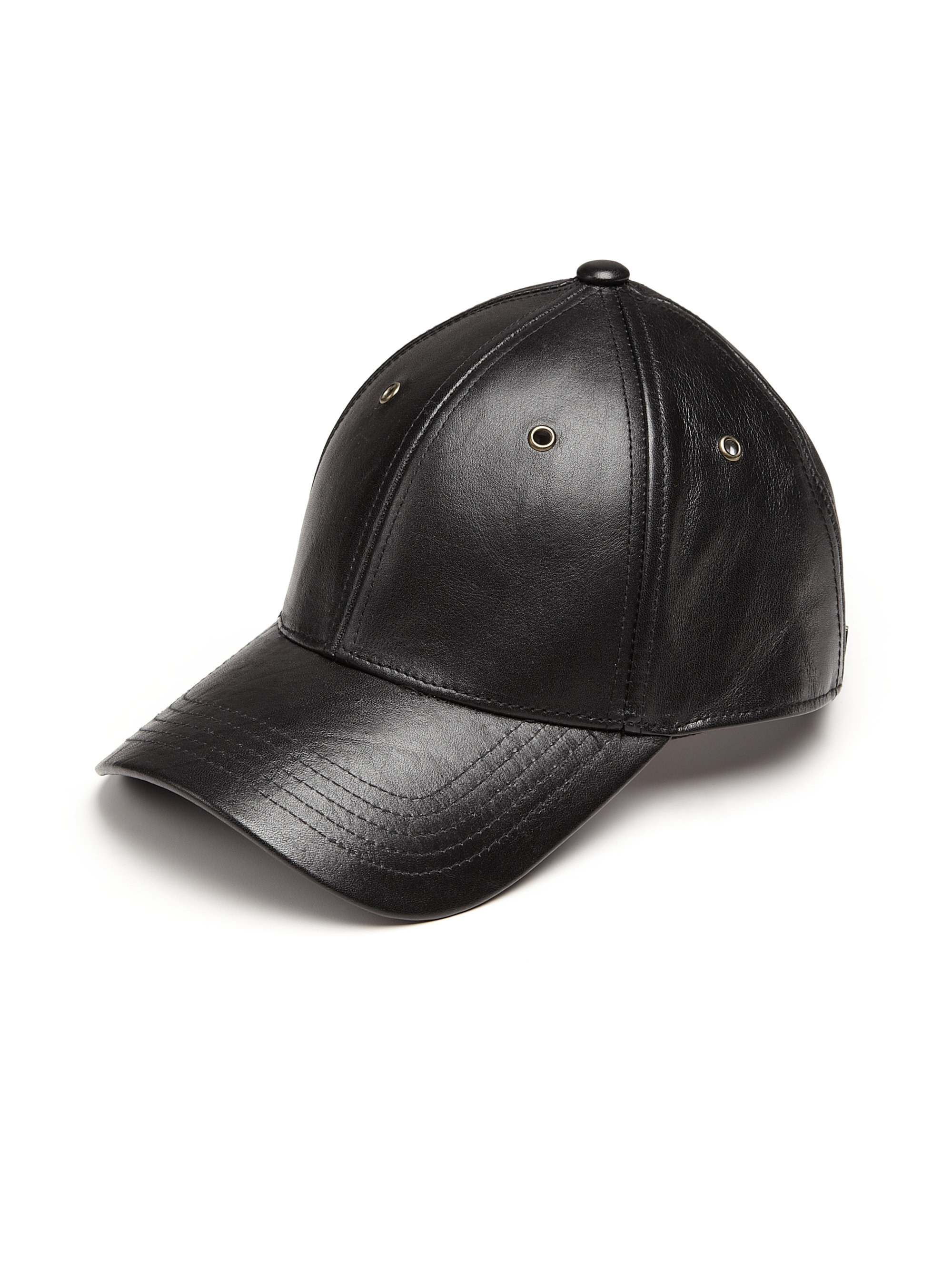 Lyst - Marc By Marc Jacobs Leather Baseball Cap in Black for Men 337bceb497f