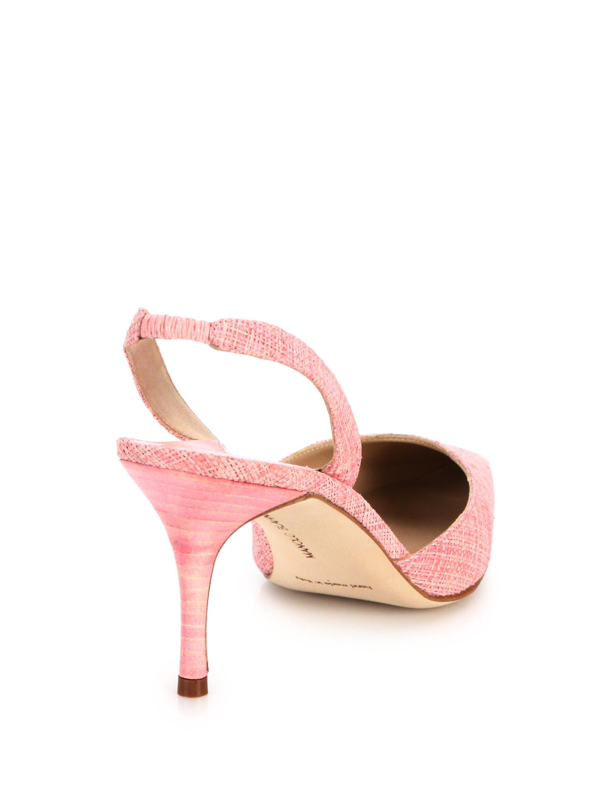 manolo blahnik pink tweed