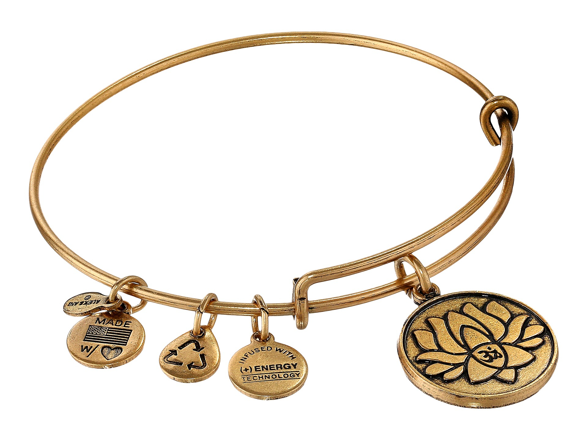 Alex and Ani Lotus Peace Petals IV Bangle Bracelet P3LpzlsPhJ