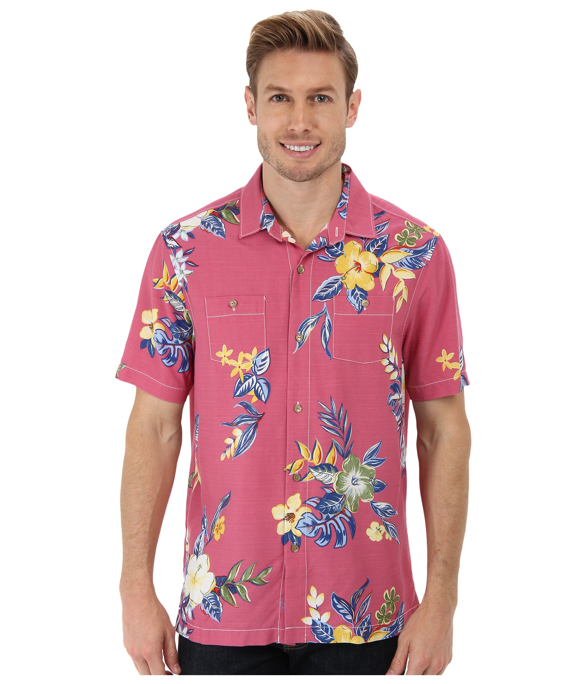 Tommy bahama island modern fit tropical fiesta ss camp for Tommy bahama christmas shirt 2014