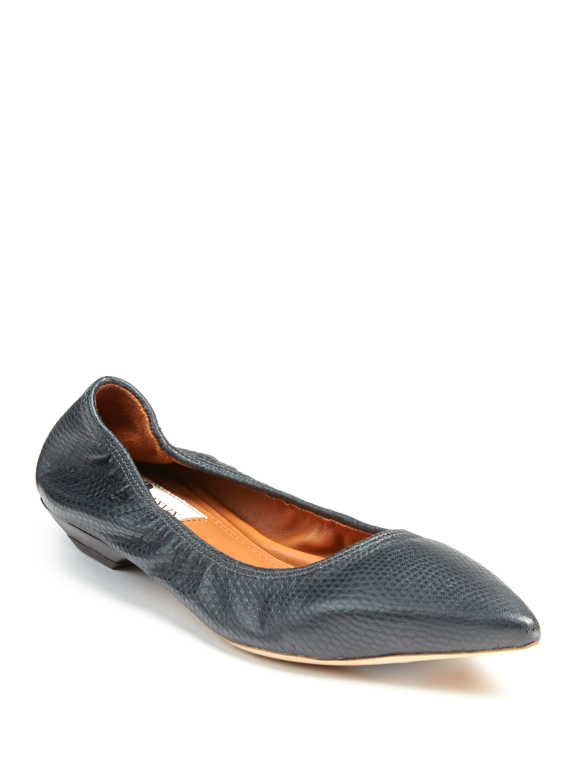 Lanvin Embossed Pointed-Toe Flats cheapest price online discount the cheapest outlet with paypal v5c2FCQbNs