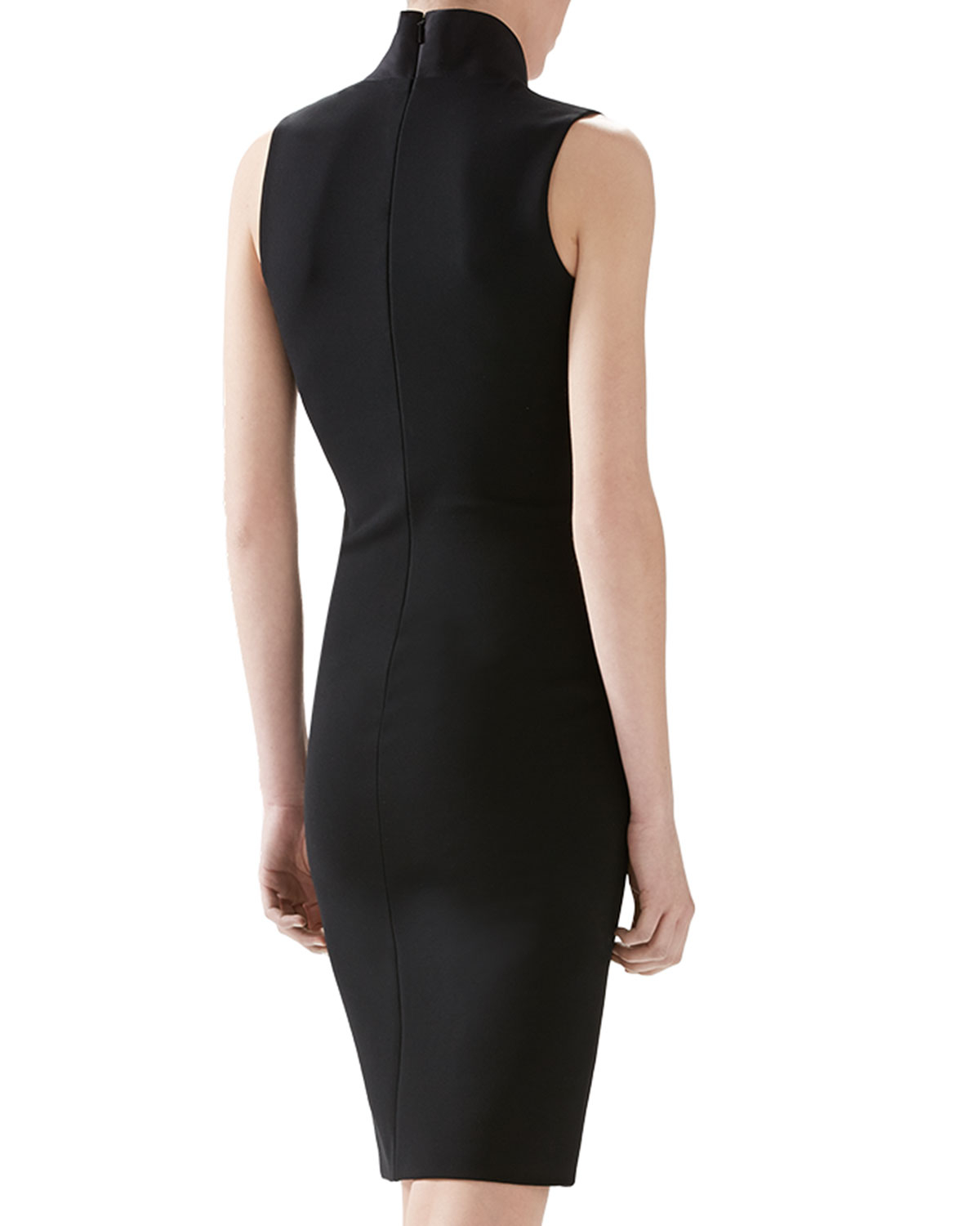 Lyst Gucci Viscose Jersey And Silk Dress In Black