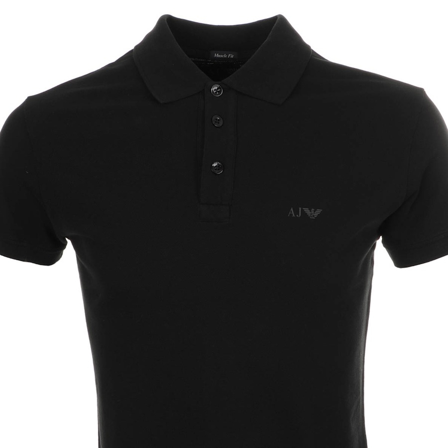 Lyst armani jeans polo t shirt in black for men for Polo shirt and jeans