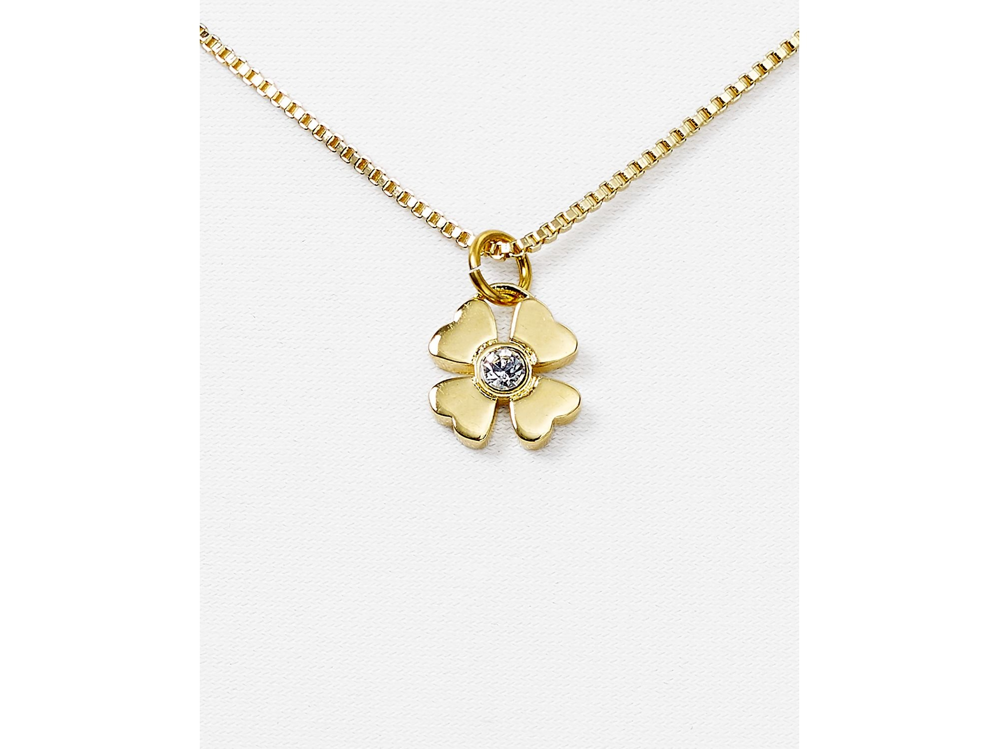 layer lucky dainty leaf made minimal to products four layered necklace clover image