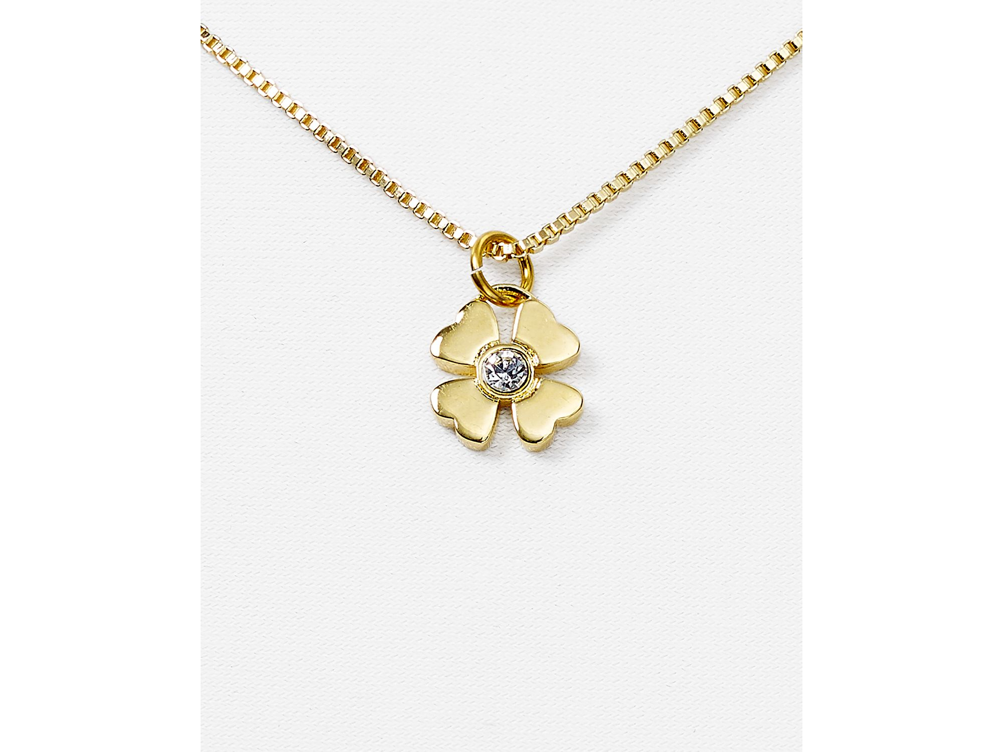 four amp image leaf cz silver clover necklace nomination sterling gioie