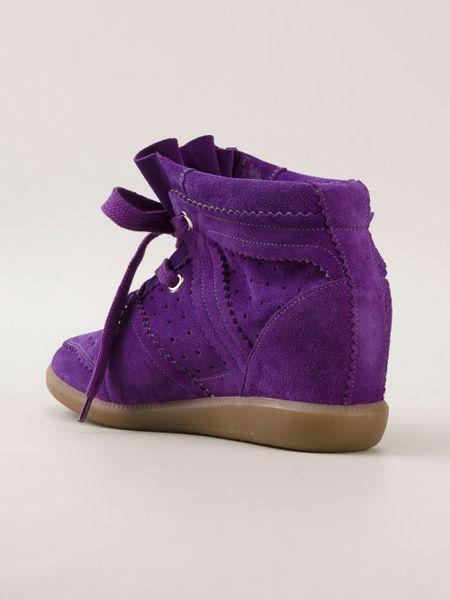 Isabel Marant Low Bekett Wedge Sneaker In Purple Pink Amp Purple Lyst