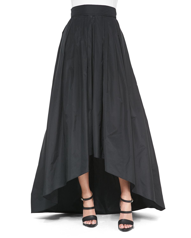 lyst escada highlow full ball skirt in black