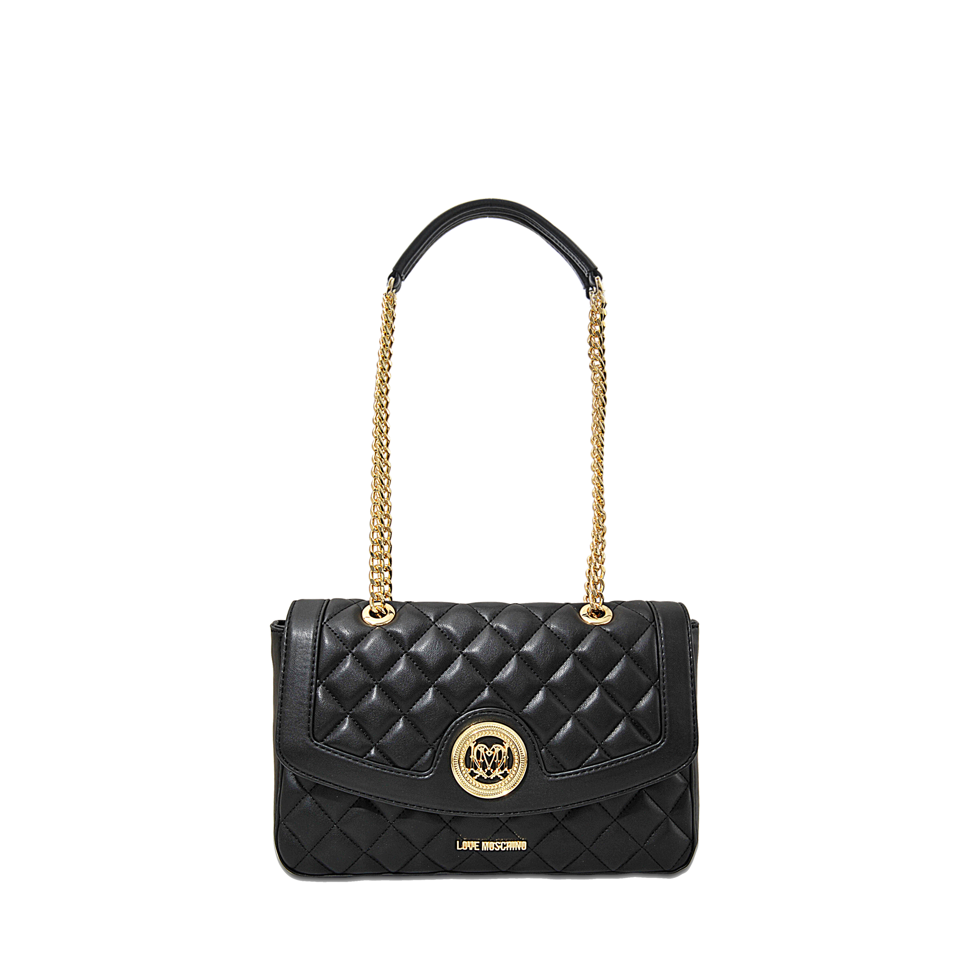 92a5b0cbc36 Love Moschino Super Quilted Flap Bag in Black - Lyst
