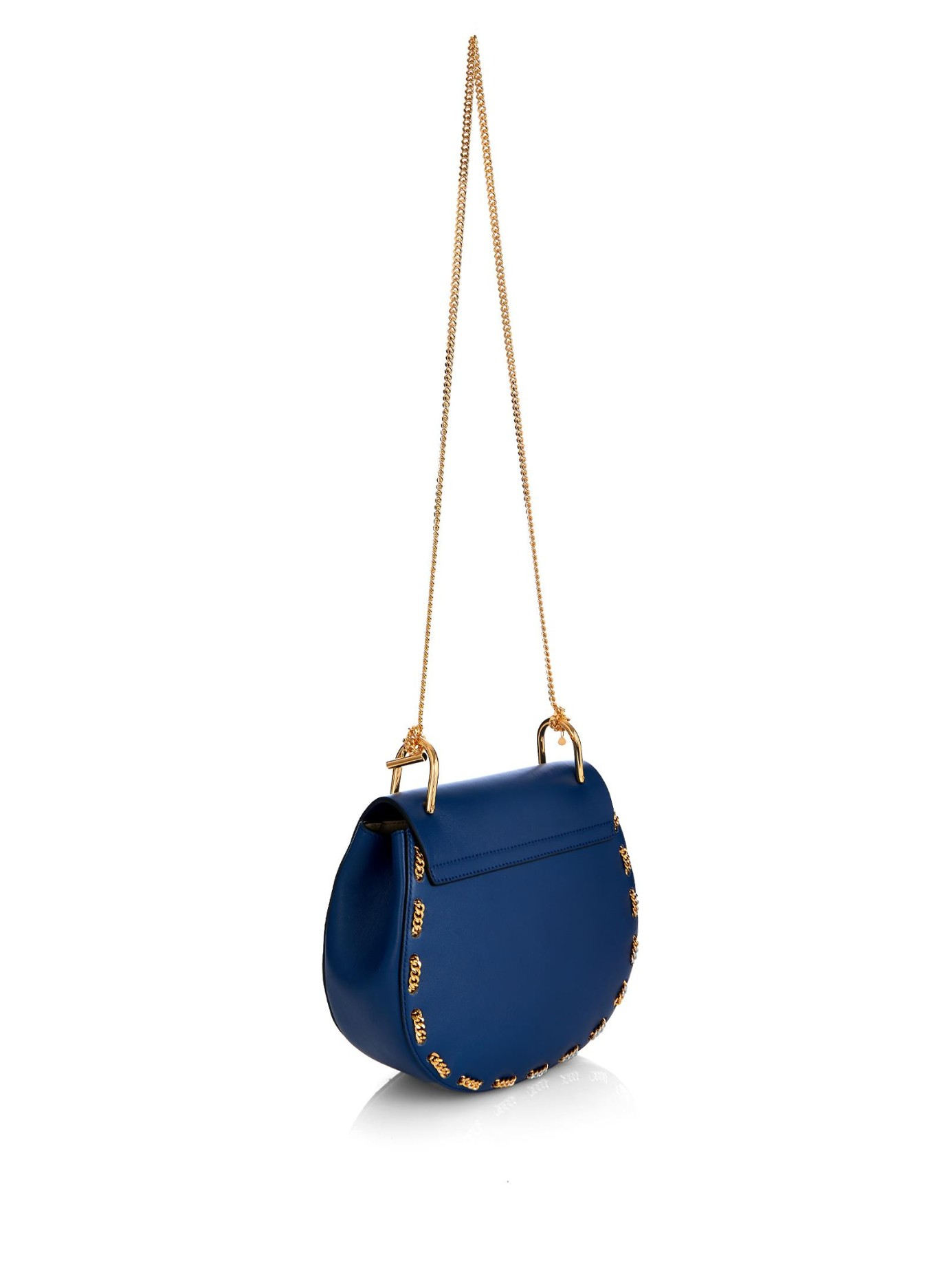Chlo�� Drew Small Threaded-Chain Shoulder Bag in Blue | Lyst