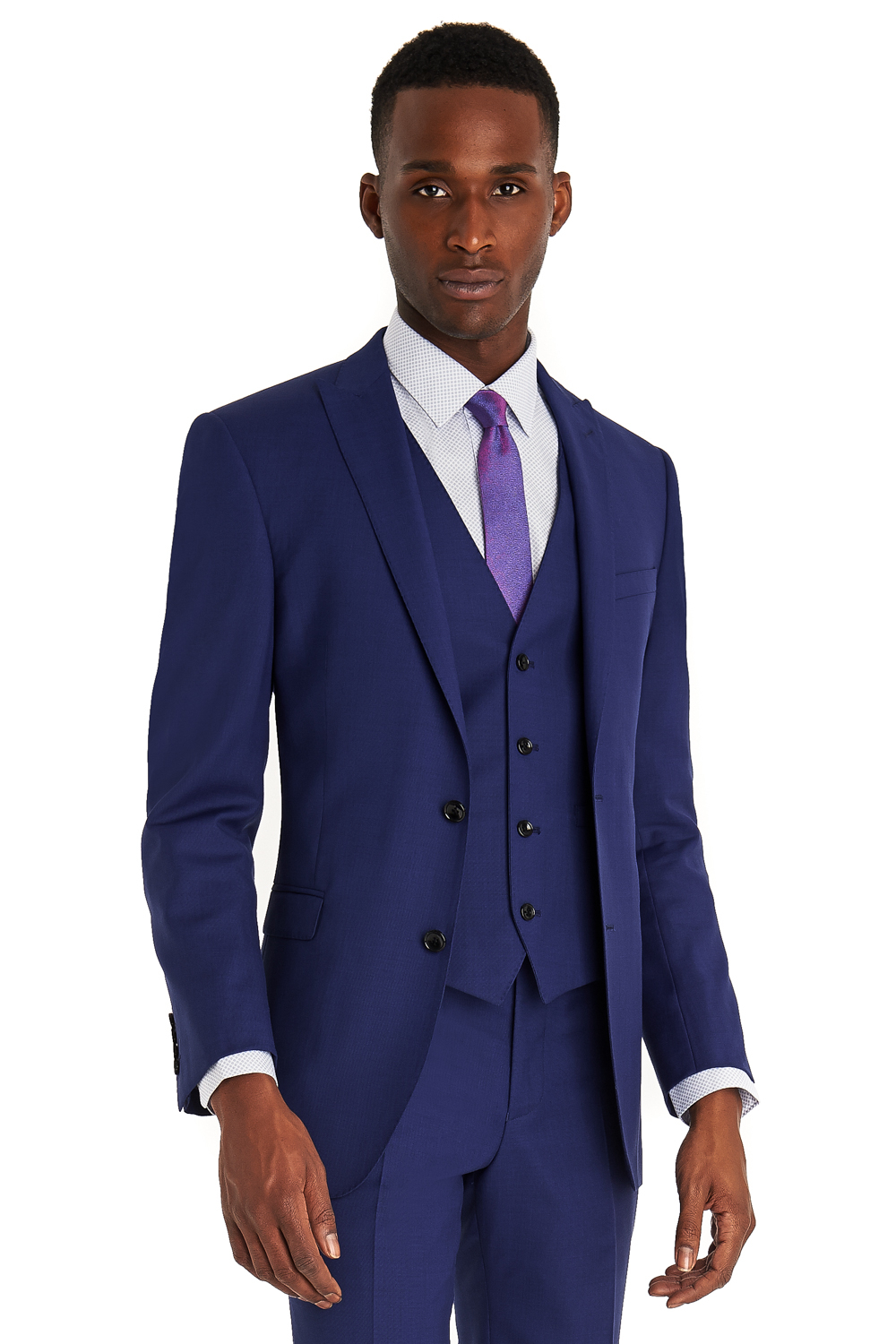 French connection Slim Fit Bright Blue 3 Piece Suit in Blue for ...