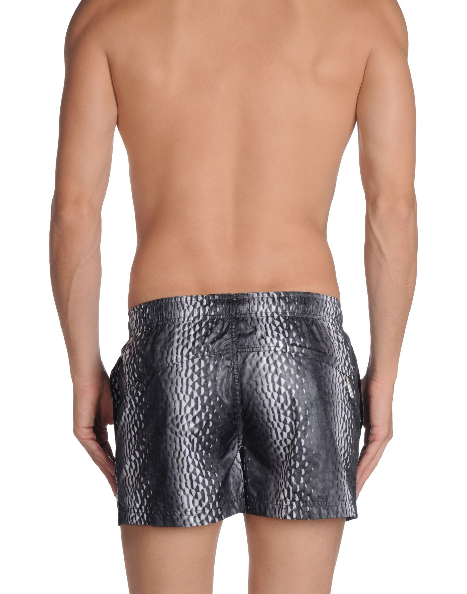 lyst calvin klein swimming trunk in gray for men. Black Bedroom Furniture Sets. Home Design Ideas