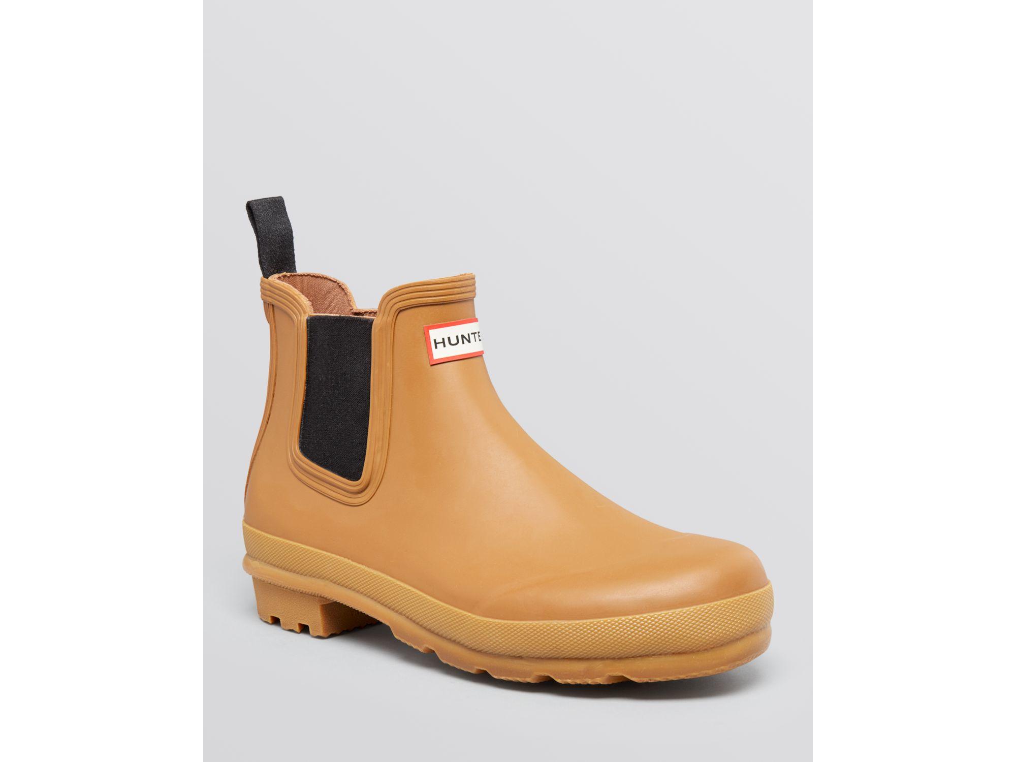 hunter chelsea rain boots in orange for men lyst. Black Bedroom Furniture Sets. Home Design Ideas