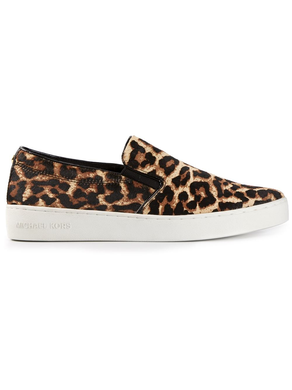 83691e923932 Lyst - Michael Kors Keaton Leopard Print Slipon Sneakers in Black
