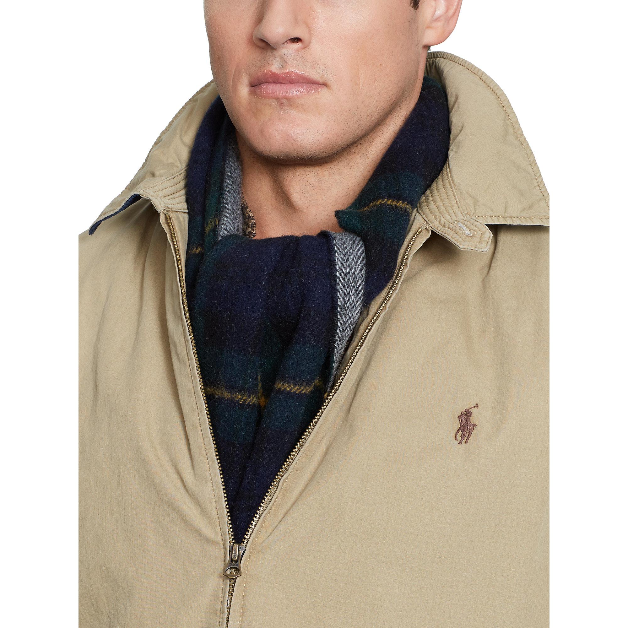 Polo ralph lauren Cotton Landon Windbreaker in Natural for Men | Lyst