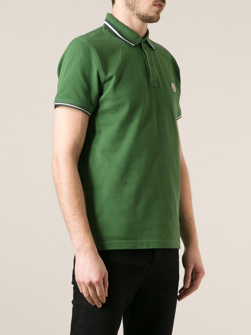 moncler polo army green