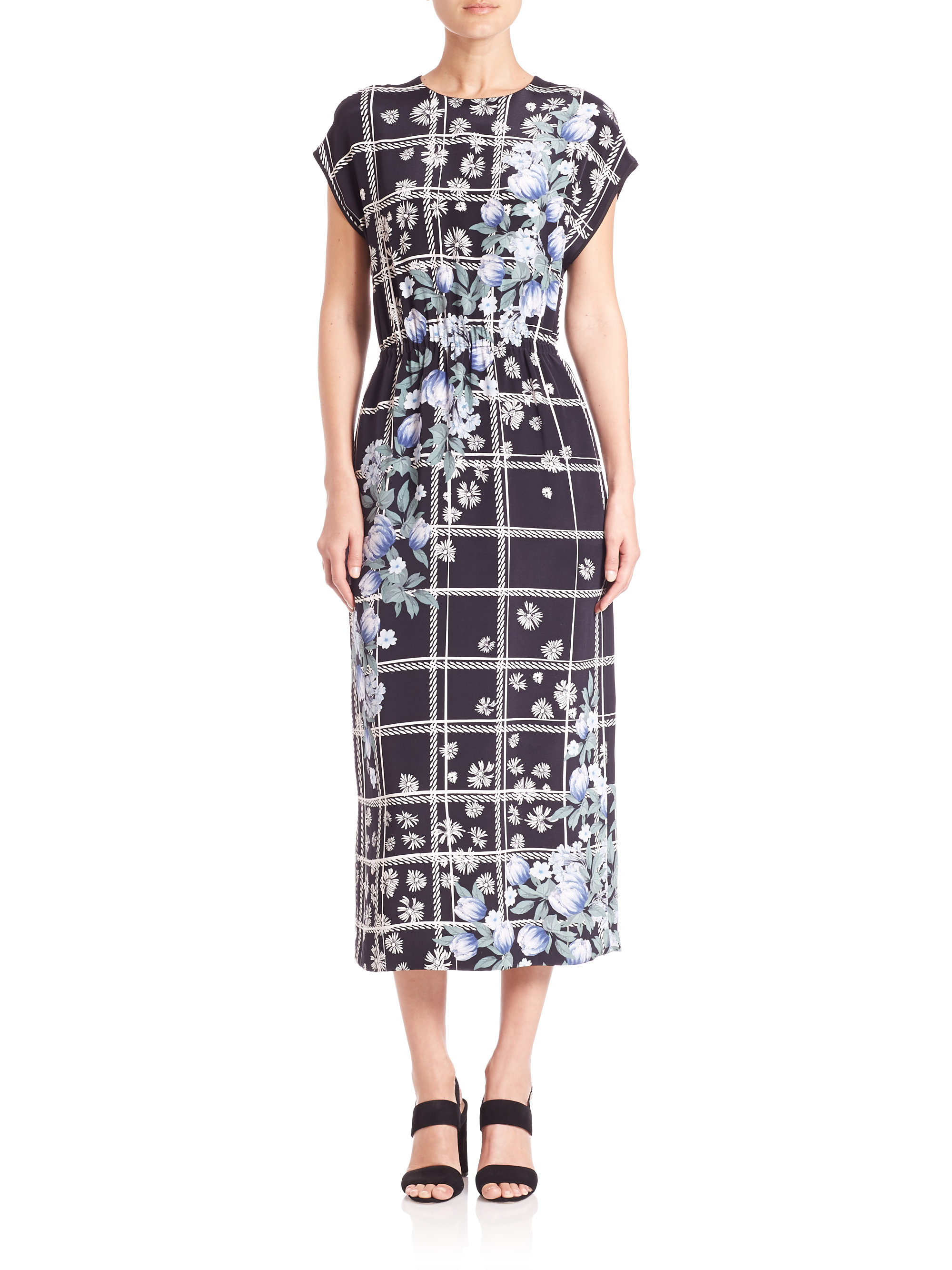 Lyst Mother Of Pearl Kara Printed Silk Jersey Midi