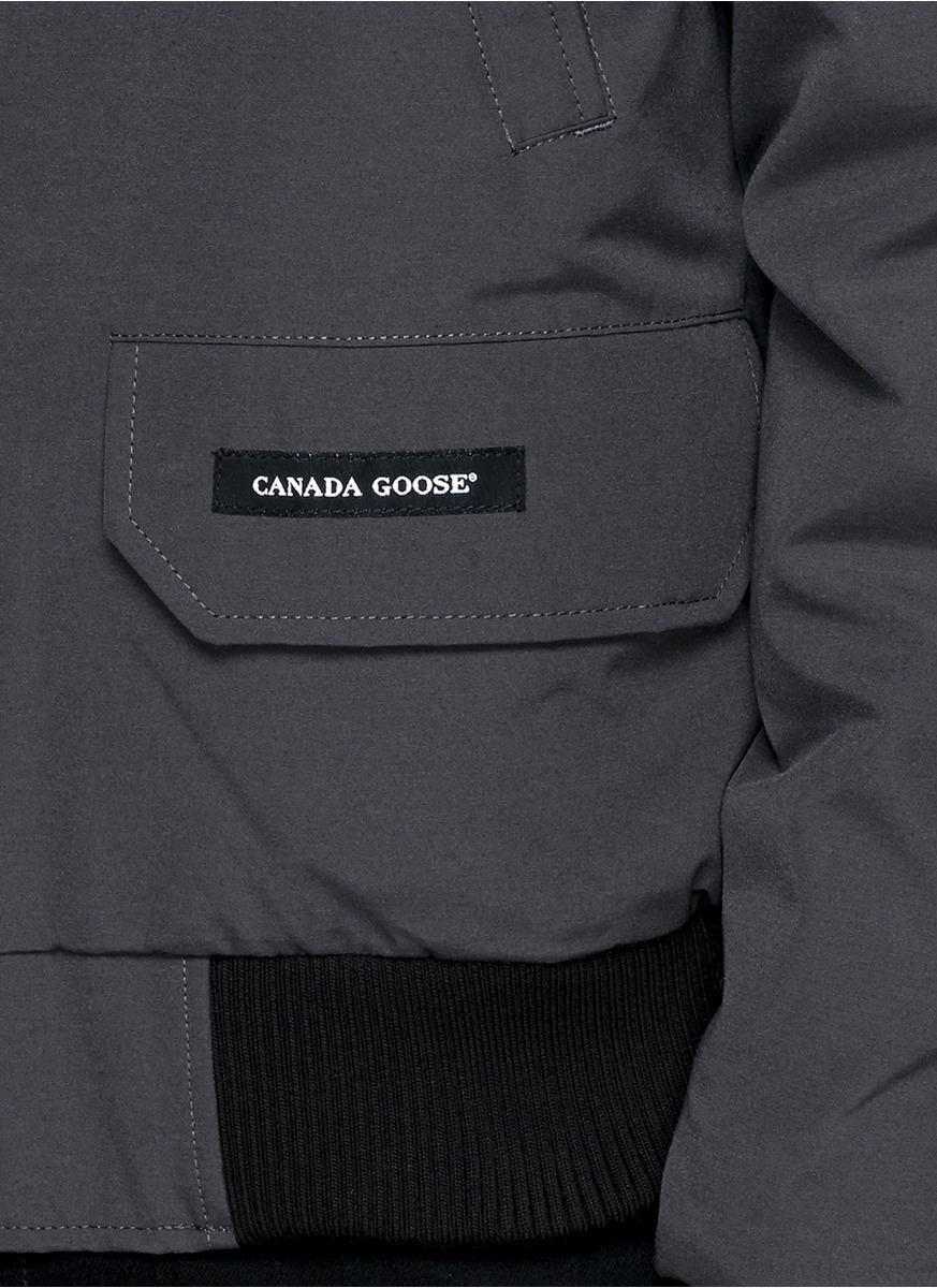 Canada Goose chilliwack parka outlet price - Canada goose Chilliwack Fur-Trimmed Bomber Jacket in Gray for Men ...