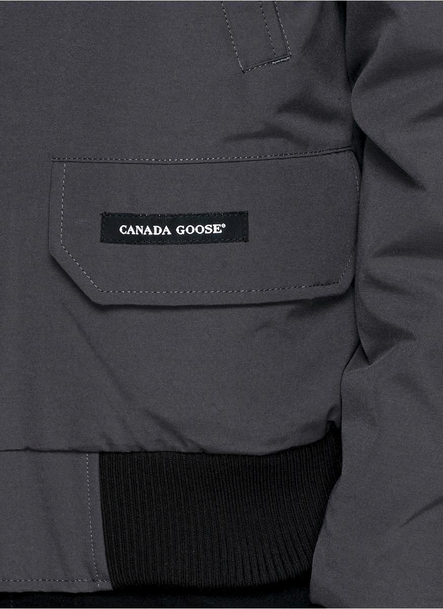 Canada Goose vest replica shop - Canada goose Chilliwack Fur-Trimmed Bomber Jacket in Gray for Men ...