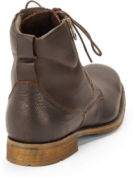 Andrew Marc Campbell Leather Lace Up Boots In Brown For