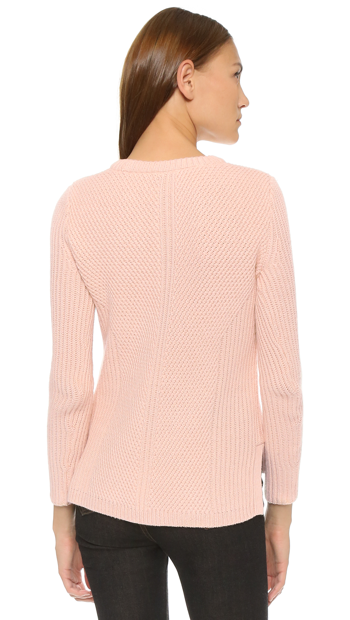 Madewell Sophia Ribbed Sweater in Pink | Lyst