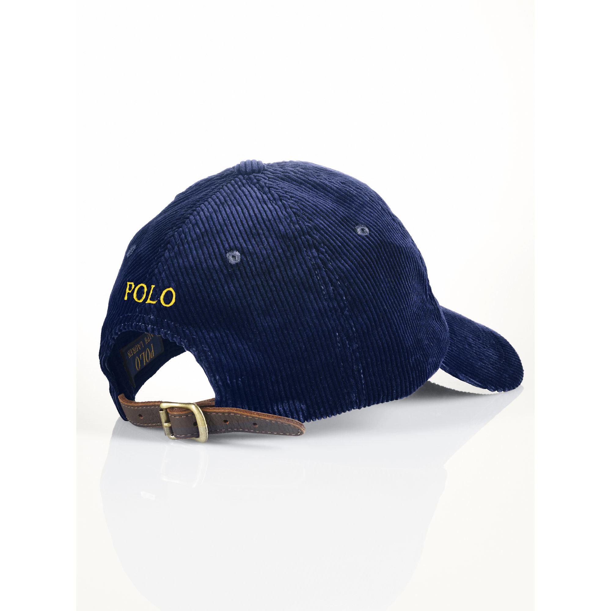 f0615087 Polo Ralph Lauren Corduroy Hat in Blue for Men - Lyst