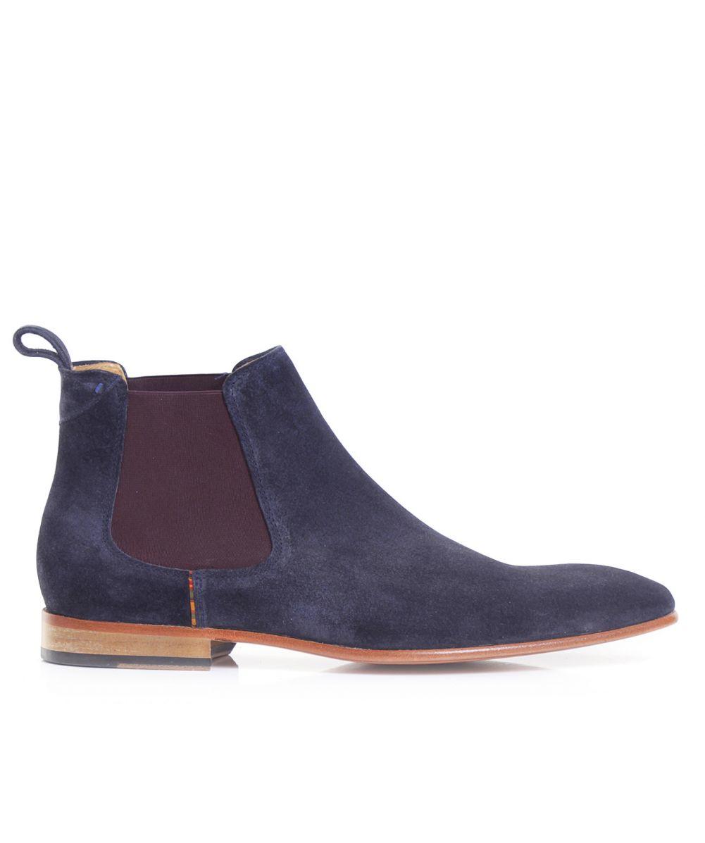 bcea76839de Lyst - Paul Smith Suede Falconer Chelsea Boots in Blue for Men