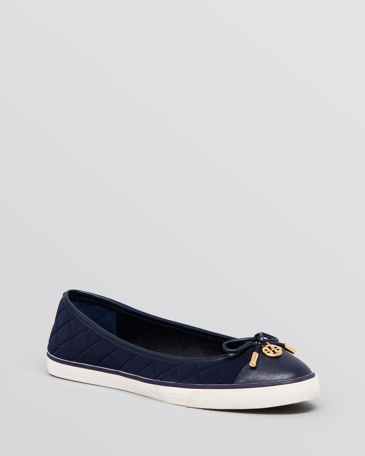 3eac59e758c28 Lyst - Tory Burch Flat Slip On Quilted Sneakers - Caruso in Blue