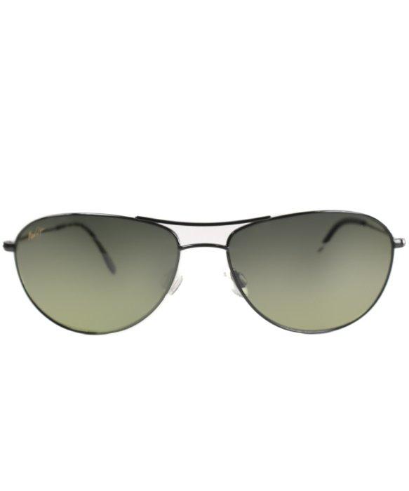 Maui Jim Beach Baby Sunglasses  maui jim baby beach hts245 02 metal sunglasses in black lyst