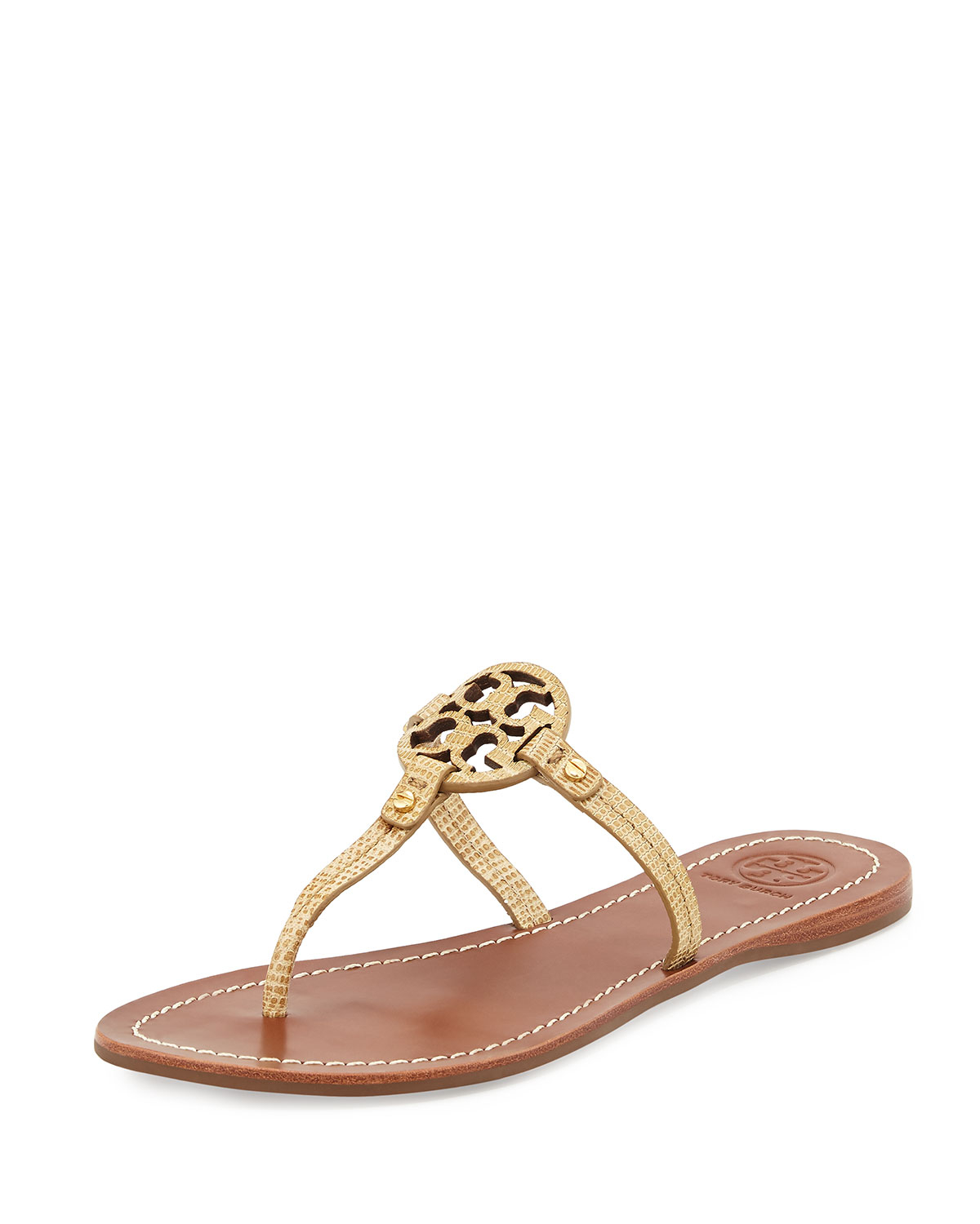 793b30735443 Lyst - Tory Burch Mini Miller Snake-Embossed Sandals
