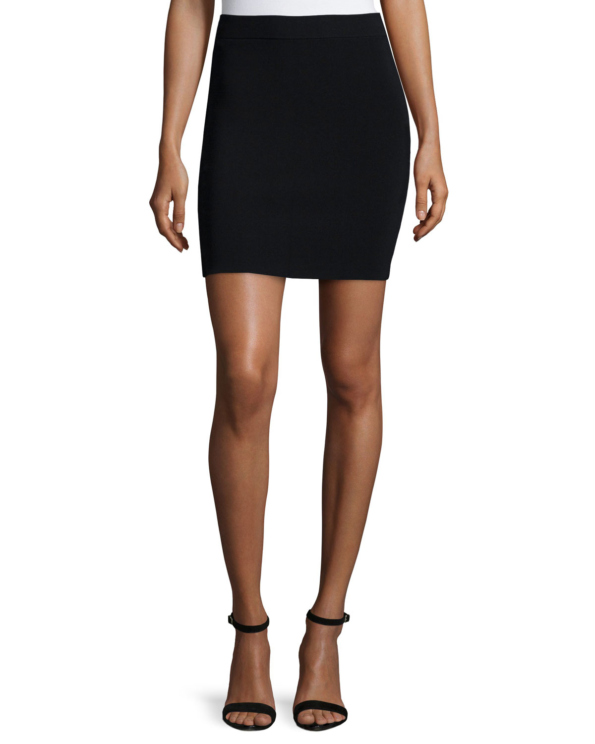 t by wang knit a line skirt in black lyst