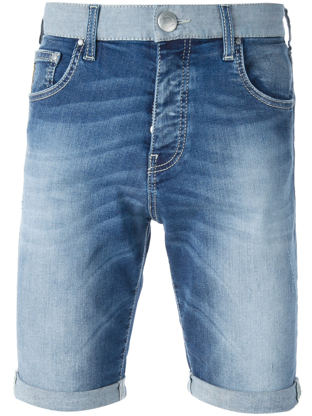 Lyst - Armani Jeans Distressed Denim Shorts in Blue for Men