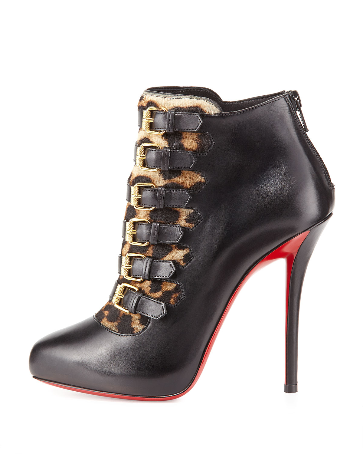 red and gold spiked louboutins - christian louboutin faolo platform bootie, replica flats