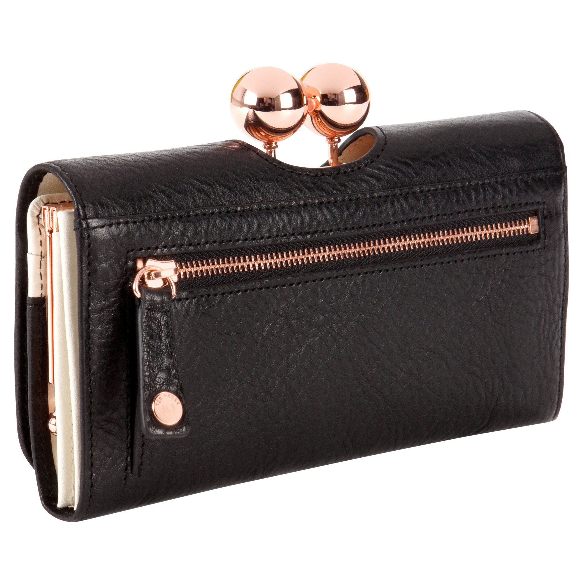 8056767a6d64 Ted Baker Bobble Matinee Leather Purse In Black Lyst