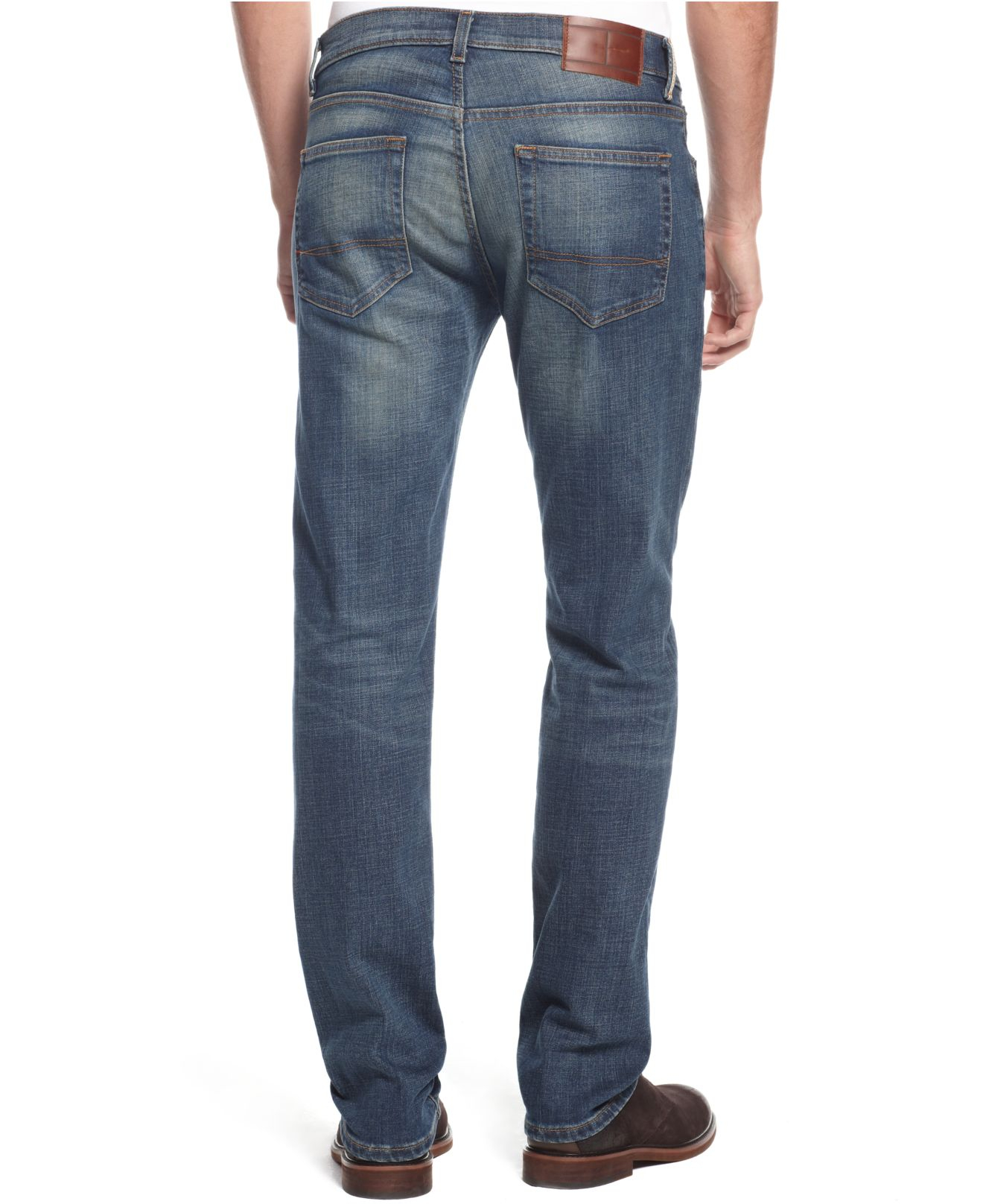 tommy hilfiger big and tall bayside jeans in blue for men lyst. Black Bedroom Furniture Sets. Home Design Ideas