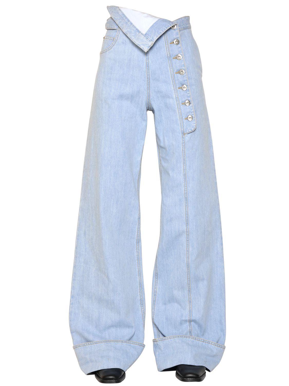 Each x other High Waist Wide Leg Cotton Denim Jeans in Blue | Lyst