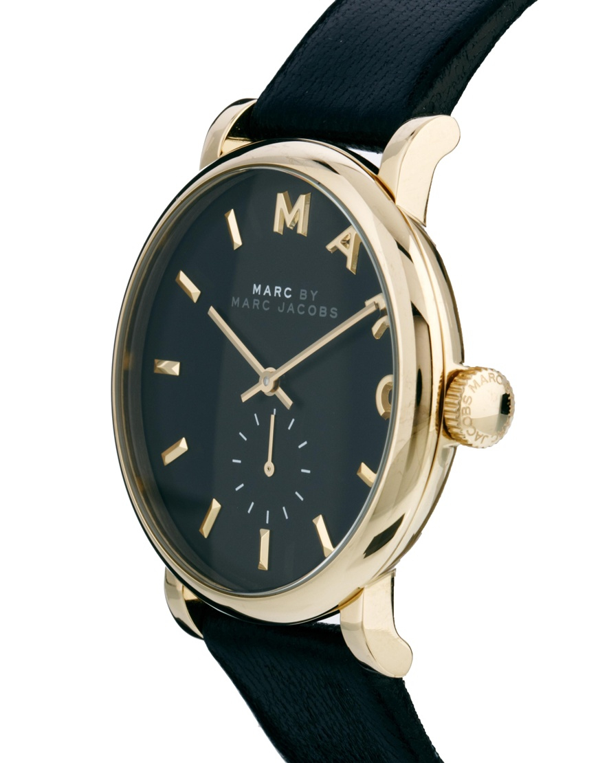 f326d953bb80e Marc Jacobs Sally Black Face Mj1416 Watch in Black - Lyst