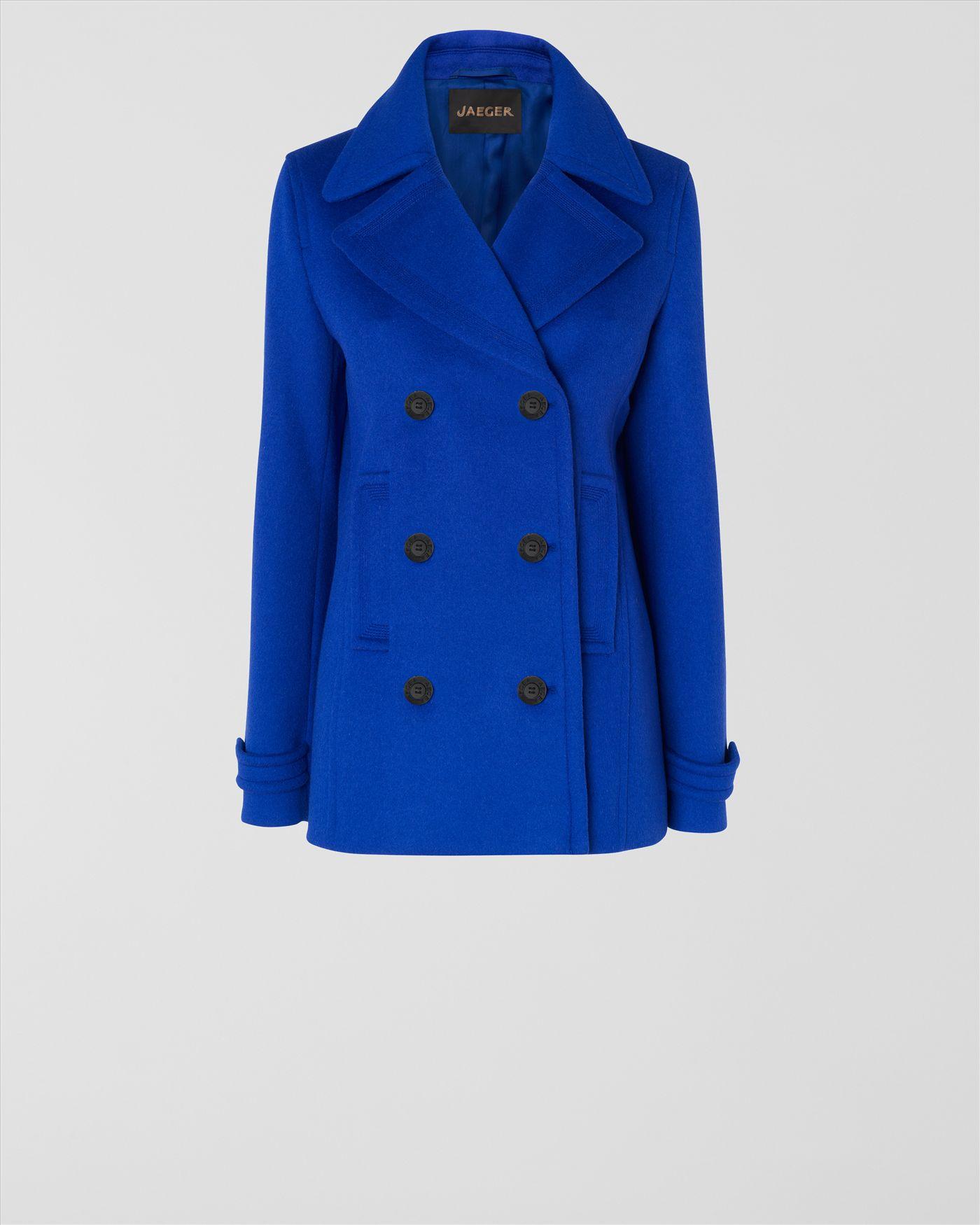 Jaeger Short Pea Coat in Blue   Lyst